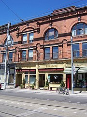Cabbagetown businesses along Carlton Street