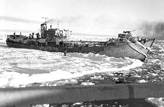 Greenland in World War II - Externsteine shortly after its capture by the Eastwind