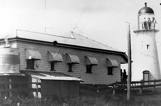 Old Caloundra Light - Lighthouse and Keeper's residence, ca. 1920