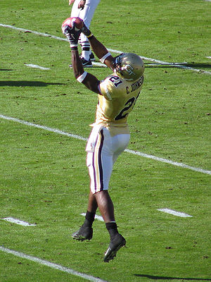Calvin Johnson - Calvin Johnson catching a pass for the Georgia Tech Yellow Jackets