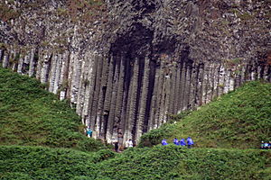 Trap rock - Trap rock forming a characteristic stockade wall, Giant's Causeway, Northern Ireland