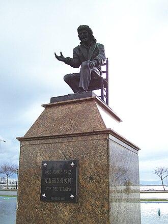 La Línea de la Concepción - Monument Camarón de la Isla