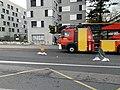 Camion de pompiers, avenue Einstein (Villeurbanne) - 2.jpg