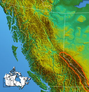 Continental Ranges - Image: Canadian Rockies Continental Ranges