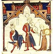 Миниатюра из «Песенника Ажуда», XIII век