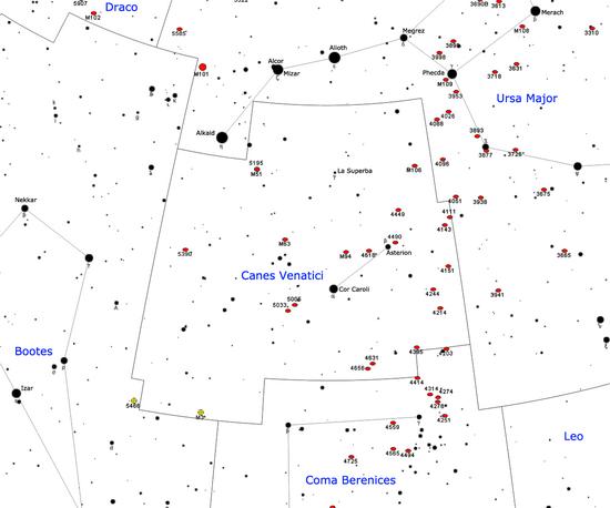 Oggetti Non Stellari Nella Costellazione Dei Cani Da Caccia Wikipedia