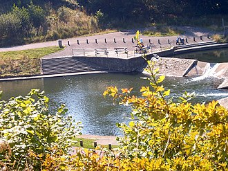Treharris - Image: Canoe weirs at Millennium Park geograph.org.uk 76966