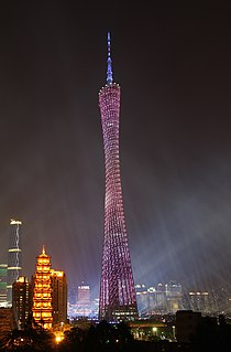Canton tower in asian games opening ceremony.jpg