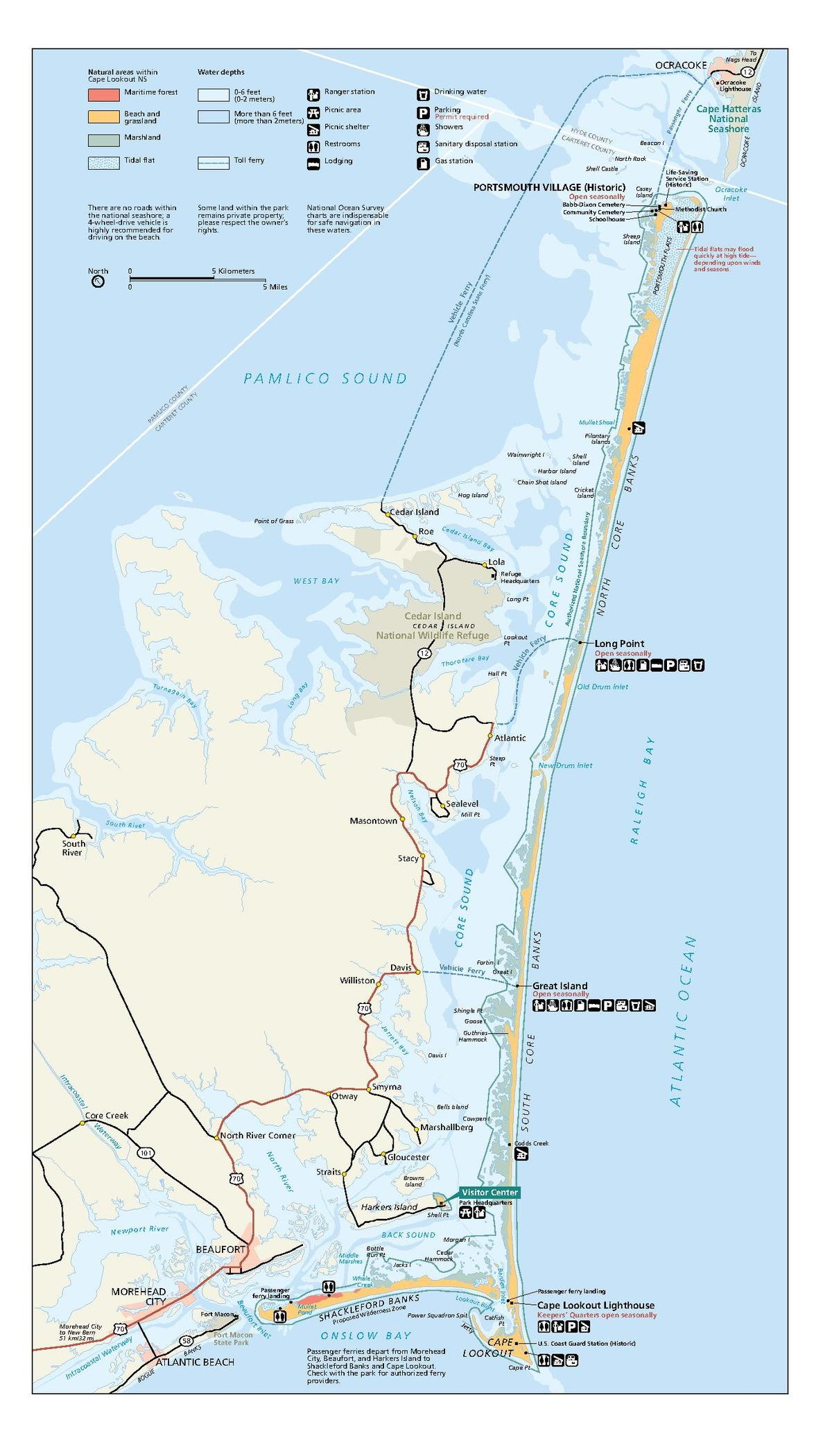 File Cape Lookout National Seashore Nps Map Pdf Wikipedia