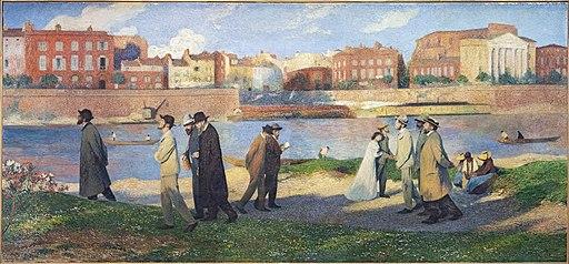 Capitole Toulouse - Salle Henri-Martin - Les Bords de la Garonne, Les promeneurs ou Les reveurs par Henri Martin