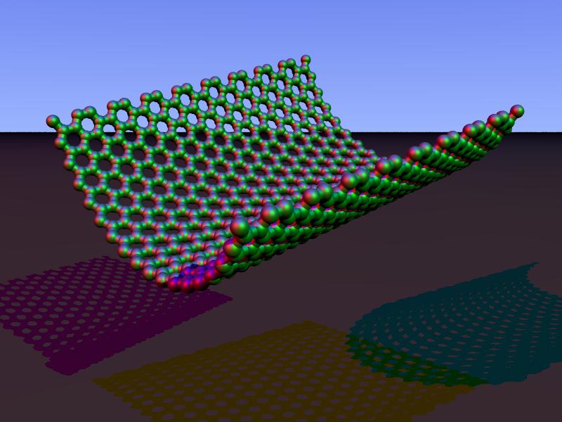 Carbon nanorim zigzag povray