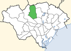 Cardiff ward location - Rhiwbina.png