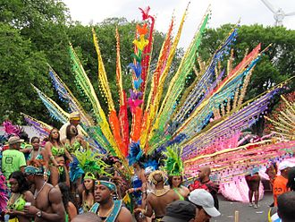Caribana is a festival celebrating Caribbean culture and traditions. Held each summer in the city, it is North America's largest street festival. Caribana 2010.jpg