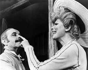 David Burns (actor) - David Burns and Carol Channing in  Hello, Dolly! on Broadway (1964)