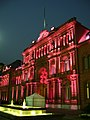 Casa Rosada ......o magenta? Fuente iluminada.JPG