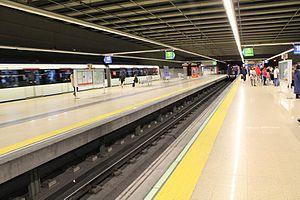 Line 10 (Madrid Metro) - Image: Casa de Campo station
