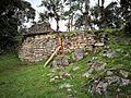 Casa de Kuelap decorada amb les formes romboidals de la cultura Chachapoyas.jpg