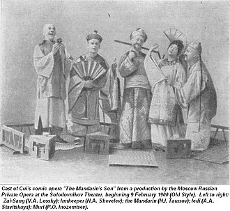 The Mandarin's Son - The cast of a production of The Mandarin's Son from 1900
