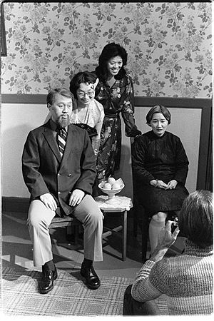 """Kathy Change -  Kathleen Chang as """"Sissy"""" in a 1978 San Francisco Asian American Theater Workshop production of """"The Year of the Dragon,"""" a play by Frank Chin"""