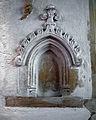 Castle Hedingham, St Nicholas' Church, Essex England, niche in south aisle chapel.jpg