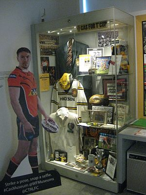 Castleford Tigers - Castleford Tigers memorabilia at the Castleford Forum Museum