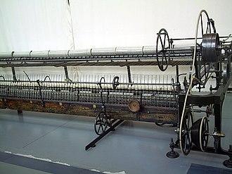 Spinning (textiles) - Image: Catalonia Terrassa m NATEC Selfactina