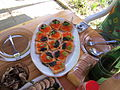 Caviar plate on Easter Day 2011.JPG
