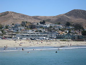 Cayucos viewed from the town pier
