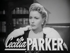 Cecilia Parker - from the trailer of Grand Central Murder (1942)