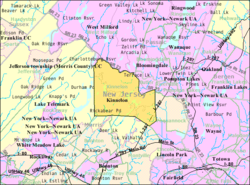 Census Bureau map of Kinnelon, New Jersey