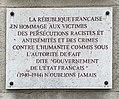 Centre d'histoire de la résistance et de la déportation (Lyon) - plaque hommage des victimes juives - .JPG