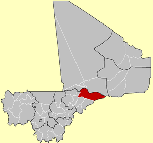 Location of the Cercle of Douentza in Mali