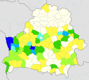 Agriculture in Belarus - Image: Cereal yields in Belarus, 2013