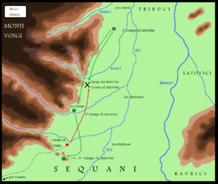 La campagna militare di Gaio Giulio Cesare in Alsazia contro Ariovisto nel 58 a.C.