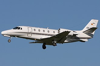 Cessna Citation Excel - Cessna 560XL Citation Excel in landing configuration