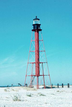 Chandeleur Island Light - c. 1986