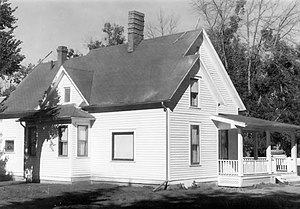 C. M. Russell Museum Complex - Russell's original wood frame home, in its new location in September 1976.