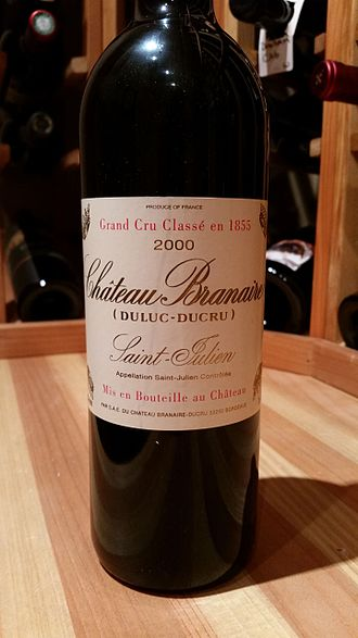 Château Branaire-Ducru - Label on bottle of 2000 vintage Château Branaire-Ducru