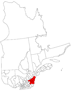 Map of Chaudière-Appalaches within Quebec.