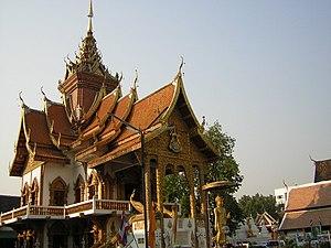 Wat Buppharam, Chiang Mai - Image: Chiang Mai Wat Buppharam Great Viharn
