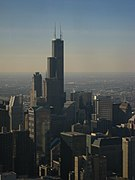 Chicago - View of Sears Tower Willis Tower from John Hancock Center.jpg
