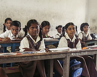 Children in an elementary school in Mayiladuthurai Children in an elementary school in Mayiladuthurai.jpg