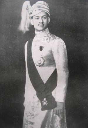 Order of the Indian Empire - H.H. Maharaja Sri Sir Chithira Thirunal Balarama Varma III, Maharaja of the Kingdom of Travancore, GCSI, GCIE, wearing the sash, star and badge of a Knight Grand Commander of the Order of the Indian Empire (GCIE)