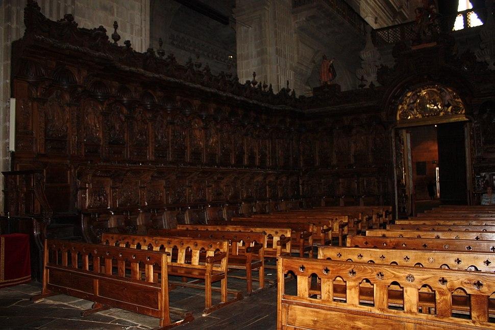 Choir of San Salvador monastery, Celanova, Ourense, Galicia
