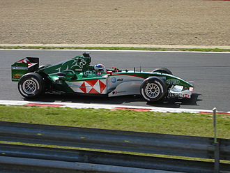 Christian Klien - Klien driving for Jaguar at the 2004 Belgian Grand Prix, where he scored his first Formula One points