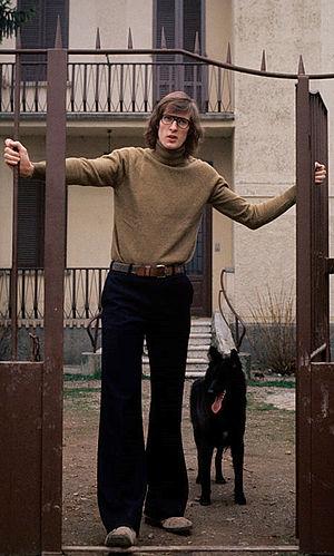 Chuck Jura - Jura in front of his Italian house, 1975