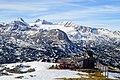 Church in the mountains near Hallstat, Austria (38010765722).jpg