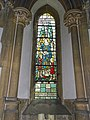 Church of the Holy Innocents, High Beach, Essex, England - chancel stained glass St Stephen.jpg