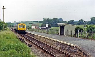 Cilmeri railway station - The station in 1986