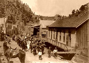 Mogollon, New Mexico - Cinco de Mayo celebration in Mogollon, 1914